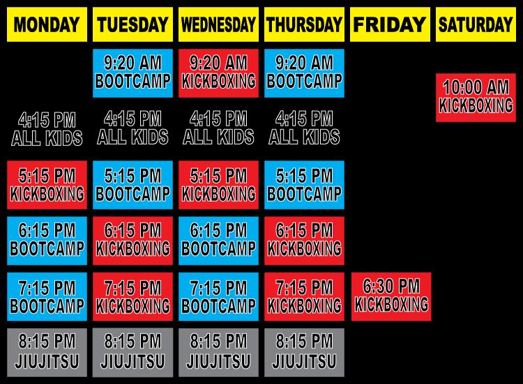 Maspeth Martial Arts - Schedule of Classes